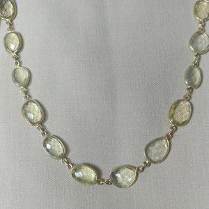 Designer Gold Plated Glass Long Necklace